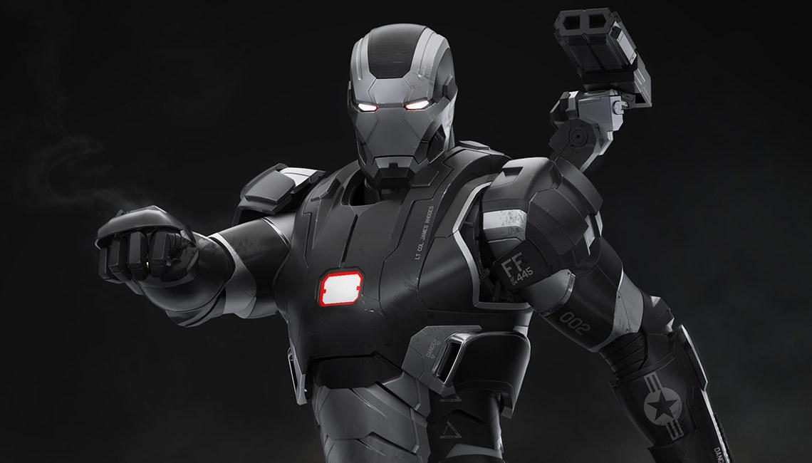 A War Machine suit design by Josh Herman.