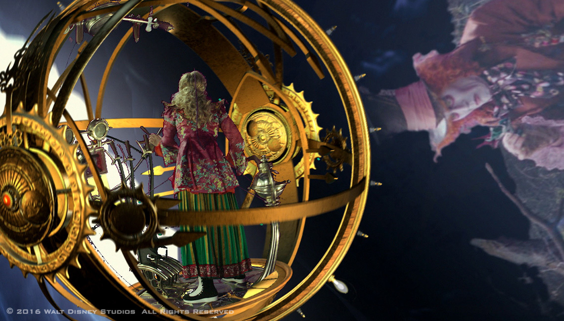 Alice Through the Looking Glass visualization images courtesy of HALON Entertainment. ©2016 Walt Disney Studios.