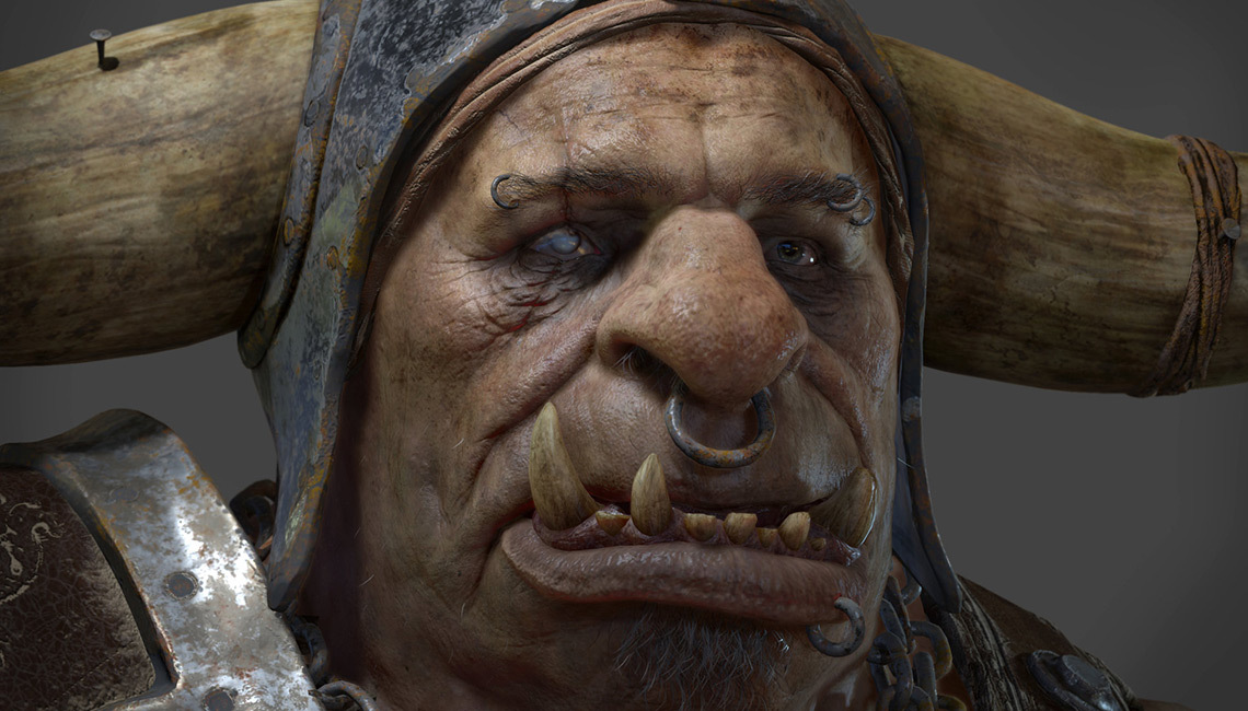 Orc: a personal project by Glauco Longhi, textured in Substance Painter.