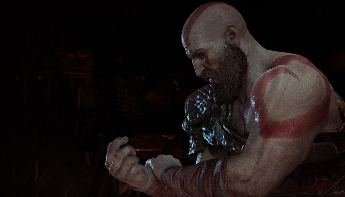 Preparing for Battle. God of War. Image courtesy of godofwar.playstation.com