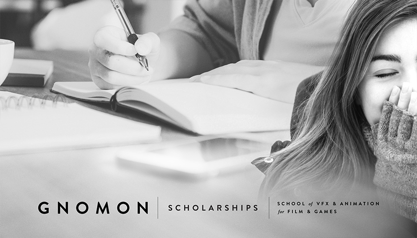 Now Accepting Applications for Gnomon Scholarships